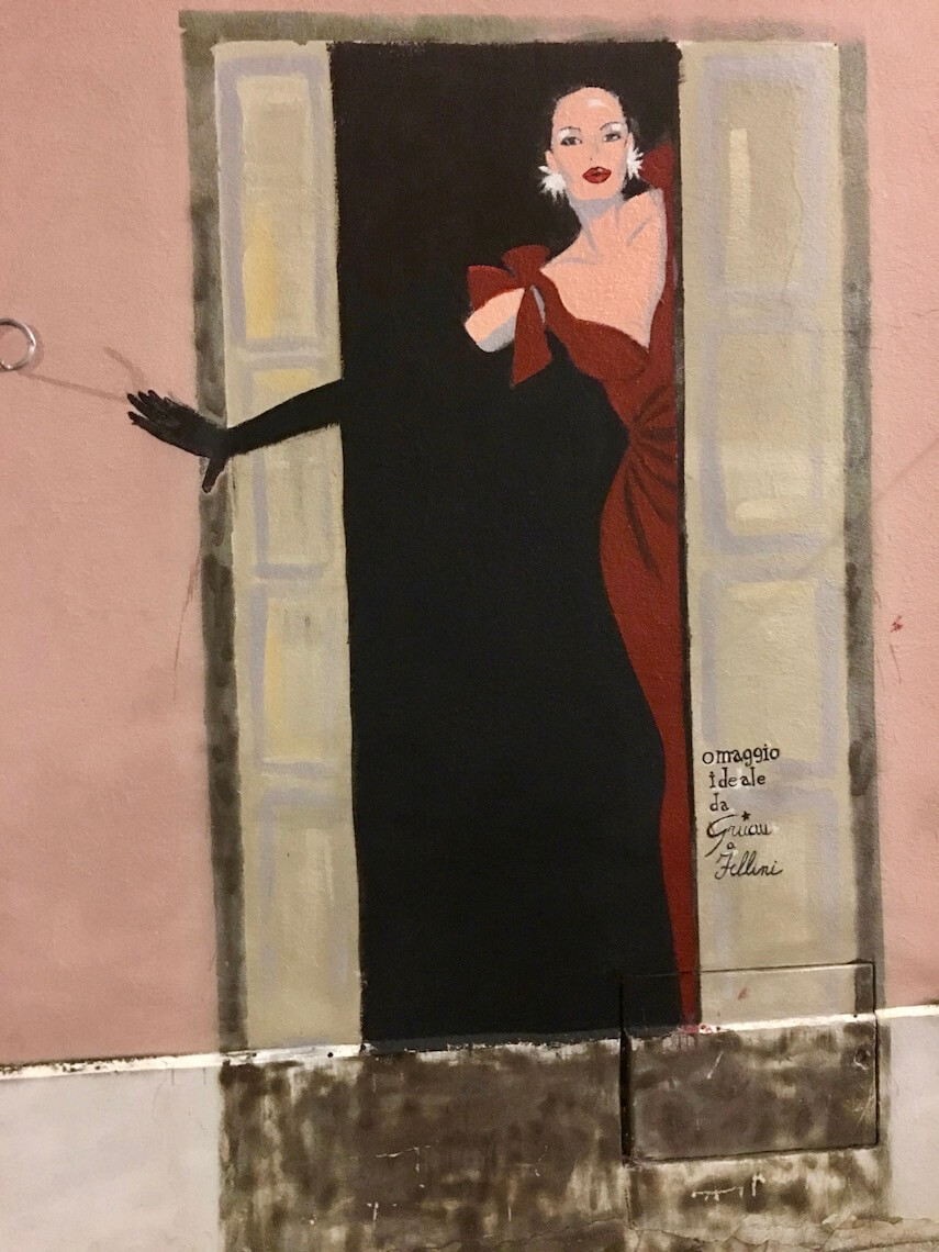 Wall mural in the Borgo San Giuliano neighbourhood