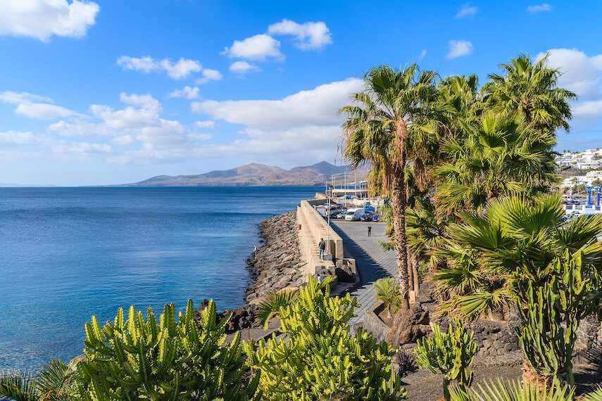 Puerto del Carmen on the Spanish holiday island of Lanzarote