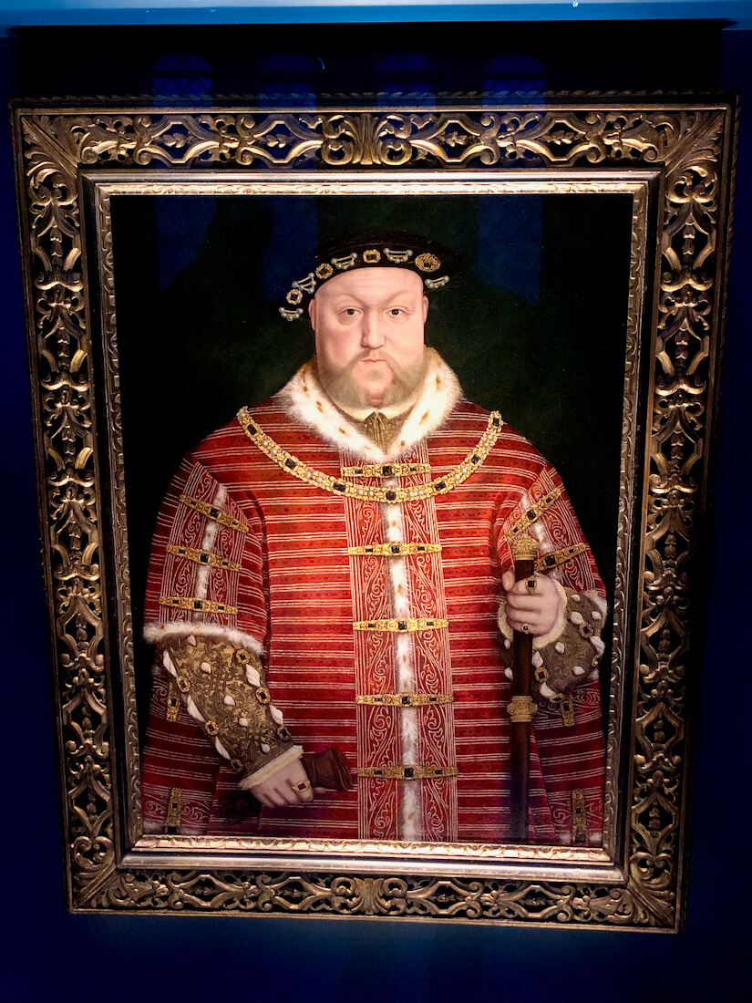 Portrait of Henry VIII by Hans Holbien at Hampton Court