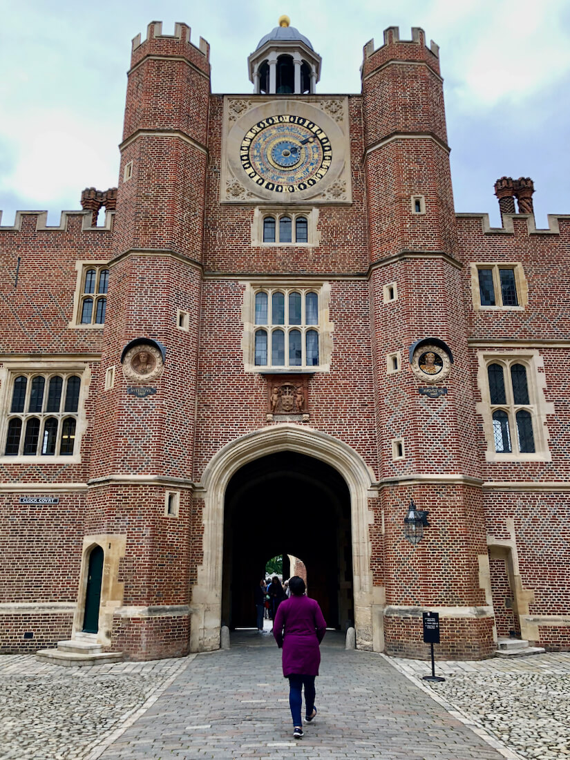 The astronomical clock at Hampton Court Palace, London