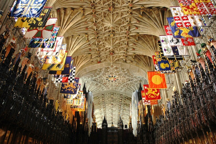 Vaulted ceiling of St George's Chapel, Windsor Castle