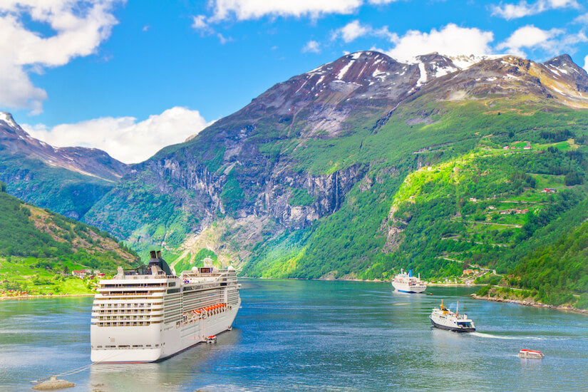 Cruising across the fjords abroad is an RCI cruise