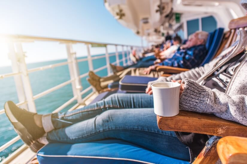 Relax on deck with an RCI cruise