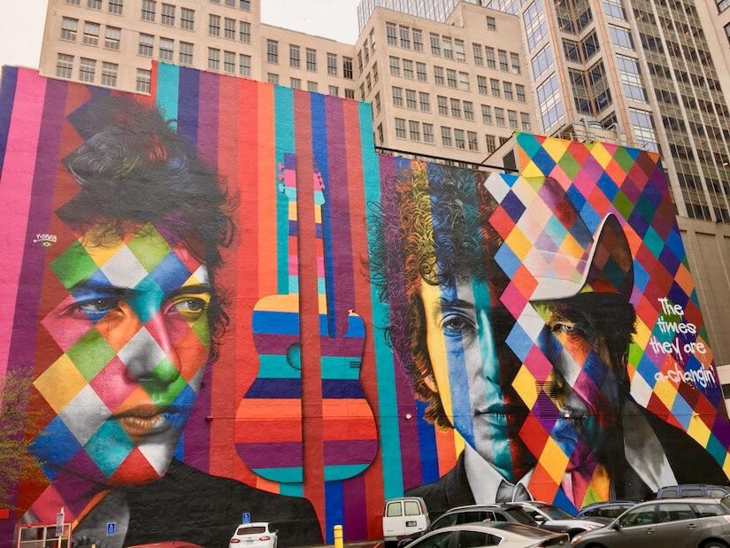 Bob Dylan mural, Minneapolis