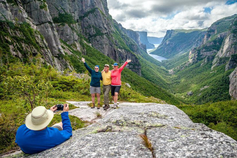Backcountry Hiking, Western Brook Pond Fjord, Gros Morne National Park