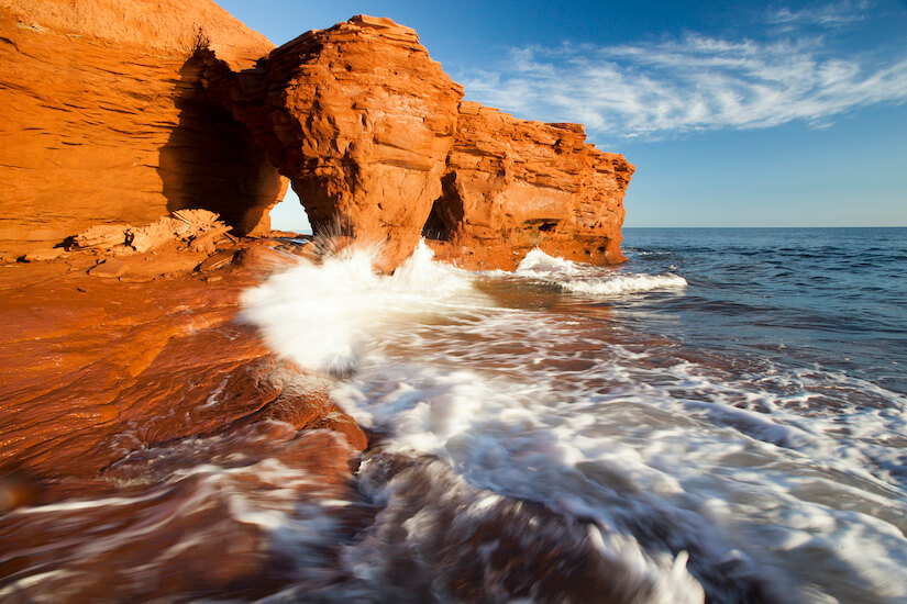 Take in the red cliffs of Darnley in Prince Edward Island