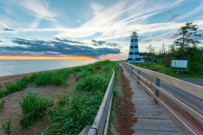 West Point Lighthouse is one of many you can explore on the island
